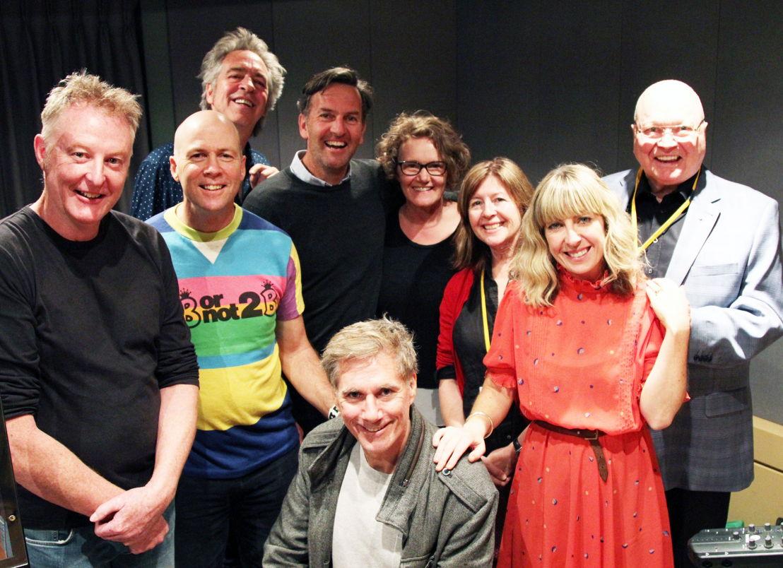 Mudgee Budgie cast, from L-R; Russell Fletcher, Ezra Bix, Brian Nankervis, Colin Lane, Genevieve Morris, Carole Patullo, Richelle Hunt, Bert Newton and David Hobson.