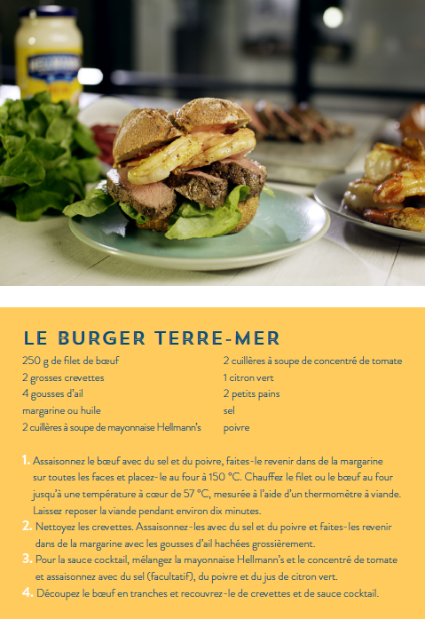 Recette Le Burger Terre-Mer