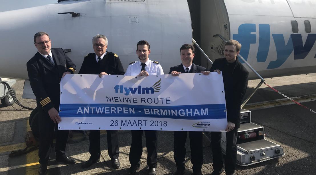 VLM Airlines heropent de lijn Antwerpen-Birmingham
