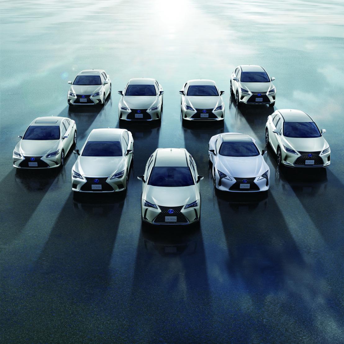 Lexus bereikt mijlpaal van twee miljoen geëlektrificeerde voertuigen wereldwijd