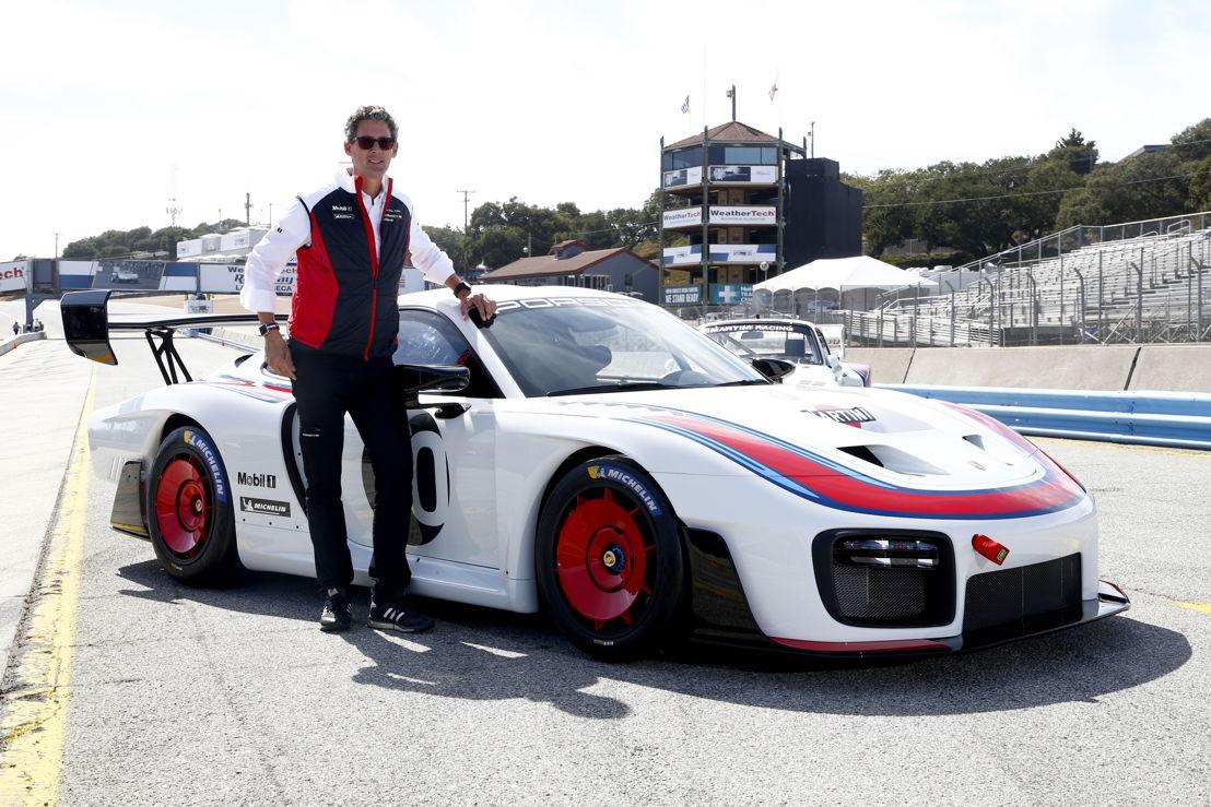 Dr. Frank-Steffen Walliser, Director de Porsche Motorsport. Estreno mundial: nueva versión exclusiva del Porsche 935 - Un auto de 700 caballos para carreras de clubes, con motivo de los 70 años de autos deportivos Porsche