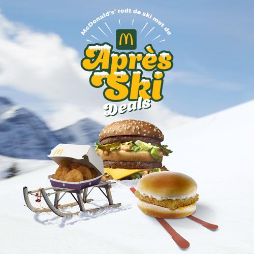 McDonald's en TBWA redden het beste van het skiseizoen met de Après Ski Deals