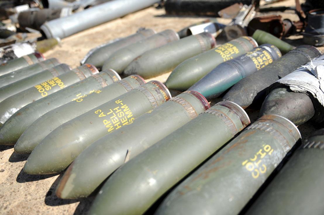 Sous-munitions en Libie © JJ. Bernard /Handicap International