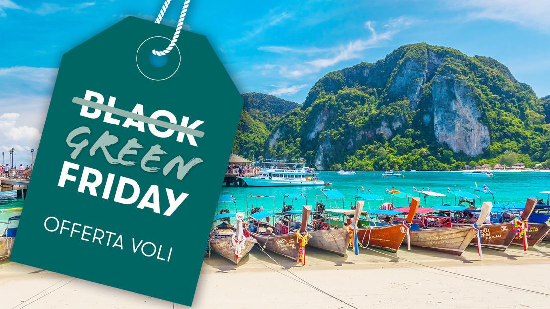 Il Black Friday è Green: Cathay Pacific compensa gratis la CO2 emessa