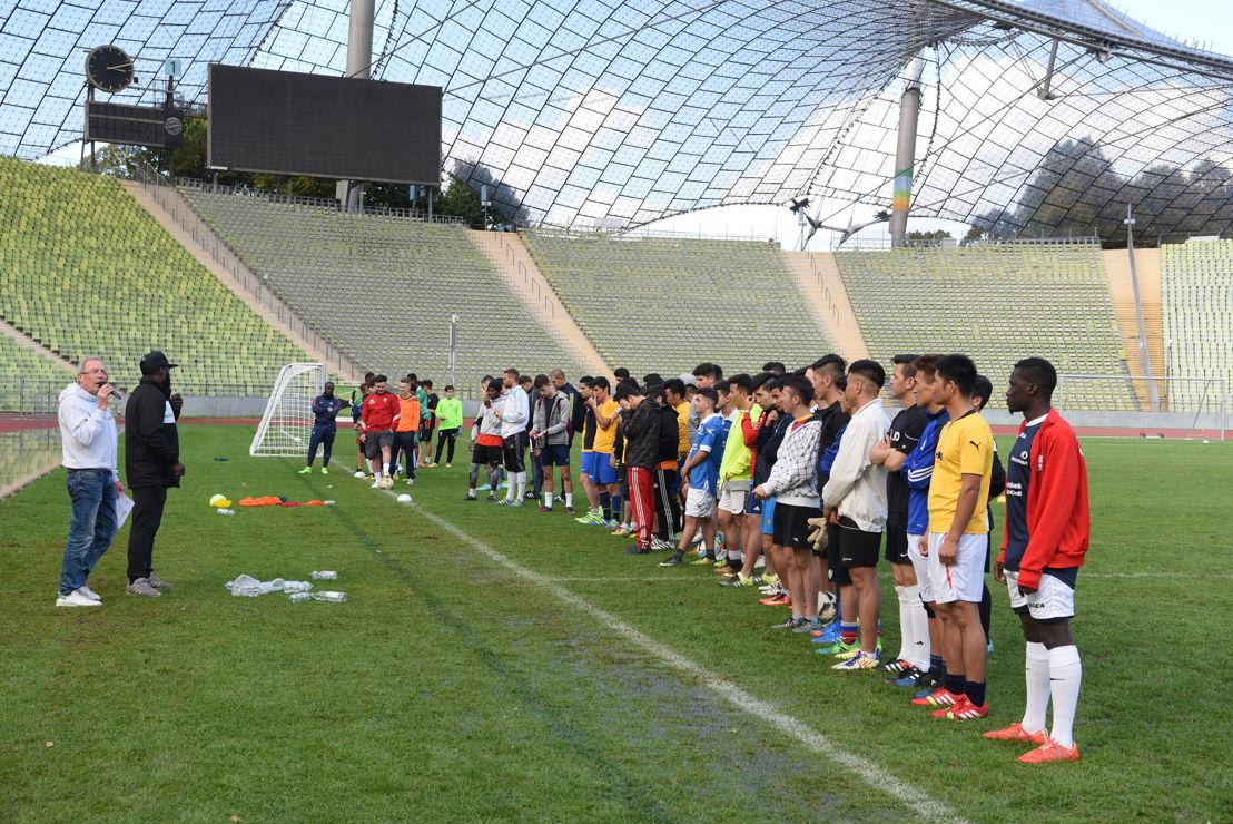 Insgesamt nehmen 10 Staffeln á 10 Spieler teil. Die Ergebnisse aus dem Fußballturnier und der Marathonstaffel werden gleichwertig summiert - so entsteht die Kick'n Run-Wertung aus Fußball und Laufen.