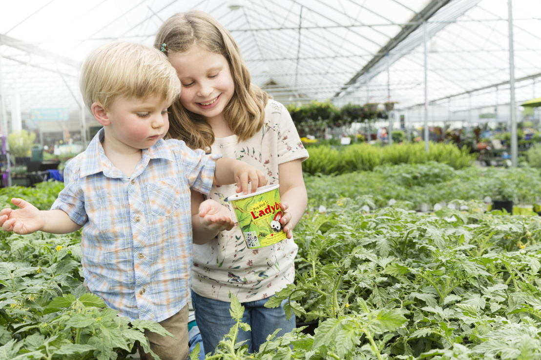 Children with Ladybugs (photo credit Pike Nurseries)