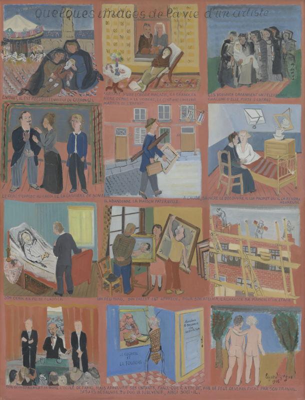 Edgard Tytgat, Enkele beelden uit het leven van de kunstenaar, 1946<br/>©Dieter Daemen<br/>(c) SABAM Belgium 2017