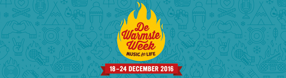 Linde Merckpoel, Eva De Roo en Bram Willems presenteren de Warmste week van Music for life