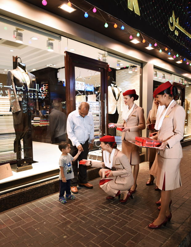 Recognising the vital role of food in celebrations and traditions that bring people together, Emirates' Cabin Crew surprised and delighted residents of all ages in the heart of Dubai, marking the start of Diwali.