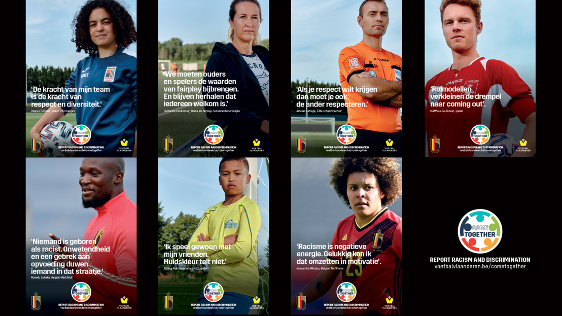 KBVB, Voetbal Vlaanderen en ACFF roepen amateurclubs op om samen te strijden tegen discriminatie en racisme