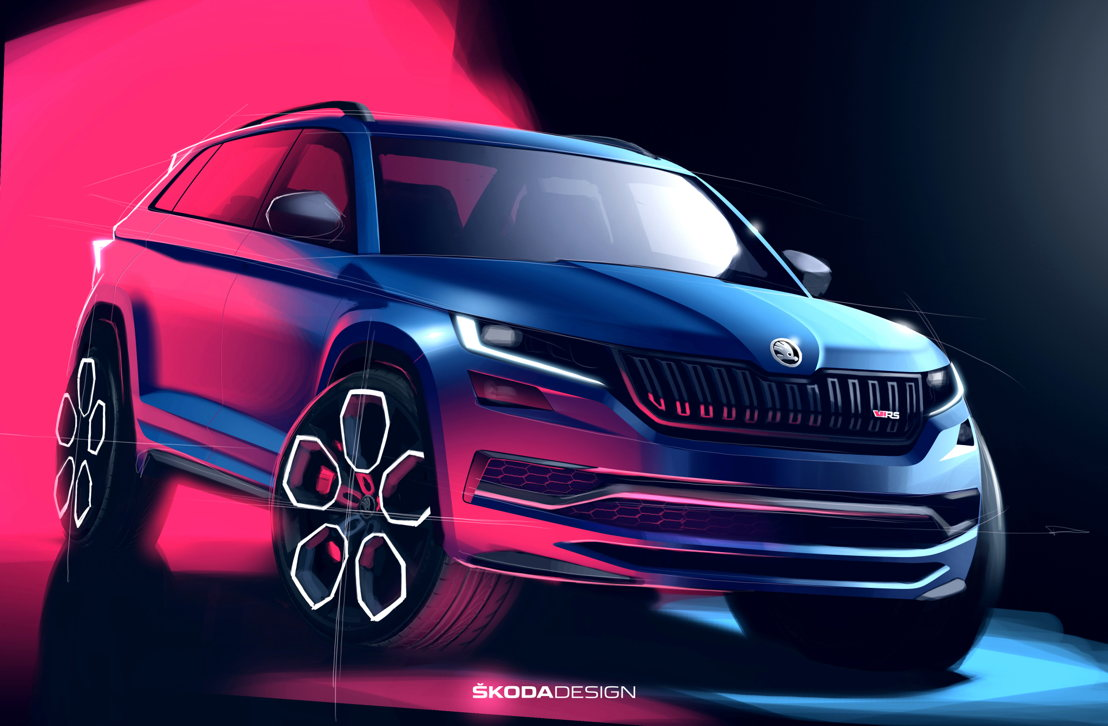 The new ŠKODA KODIAQ RS, on the other hand, will soon enter series production. The first SUV to feature the new, red RS logo comes with a 176-kW (240-PS) diesel engine, the most powerful production diesel in ŠKODA history.