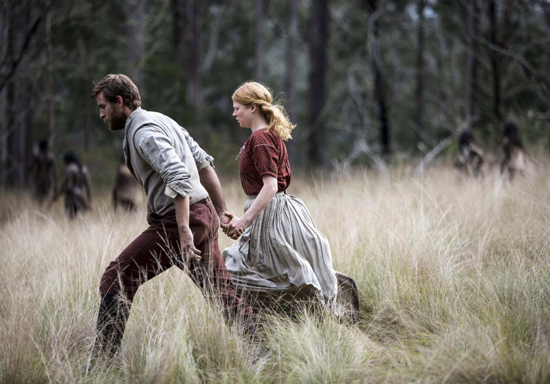 The Secret River - Oliver Jackson-Cohen (as William) and Sarah Snook (as Sal)