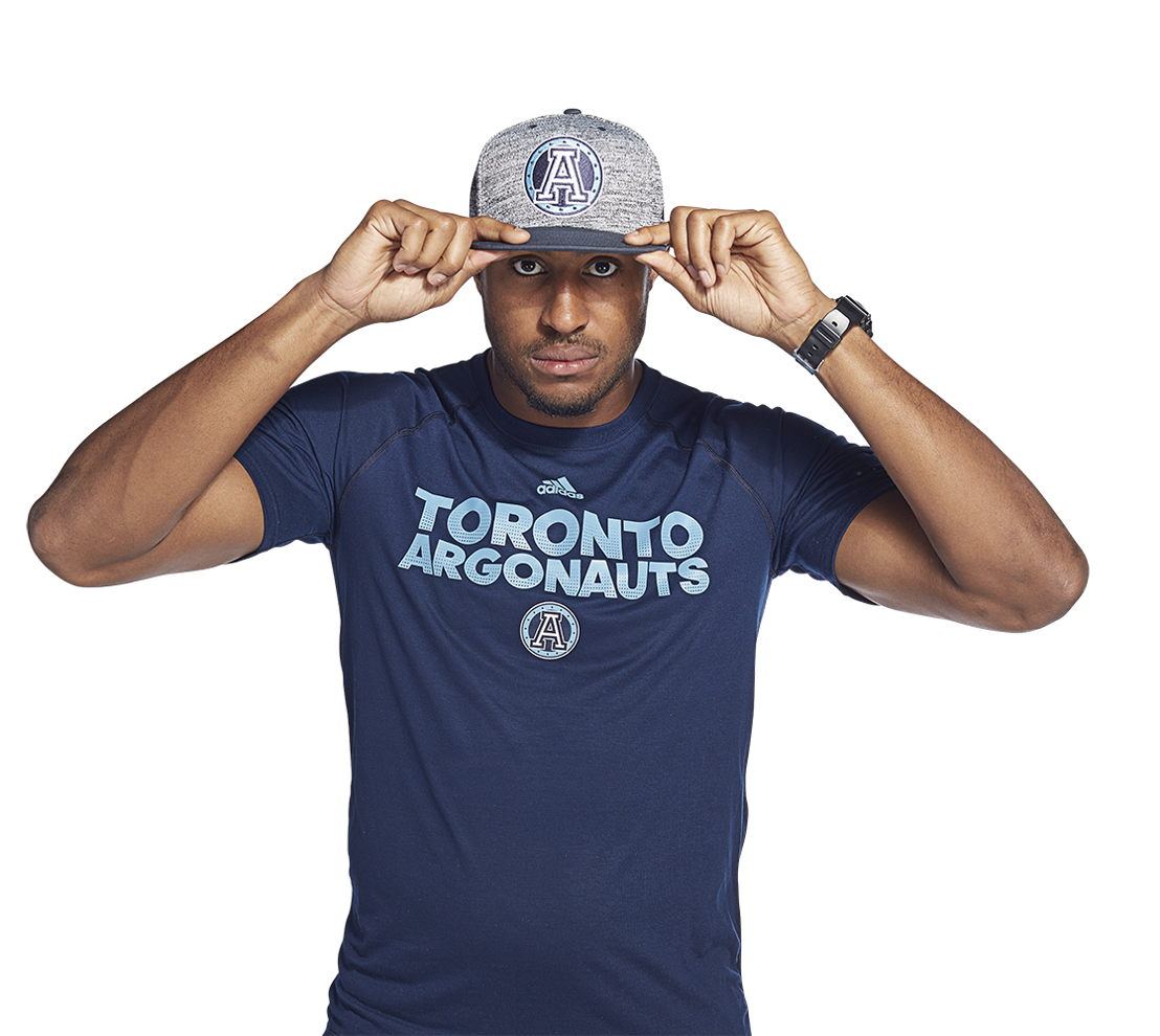 Toronto Argonauts adidas team collection (Tori Gurley).