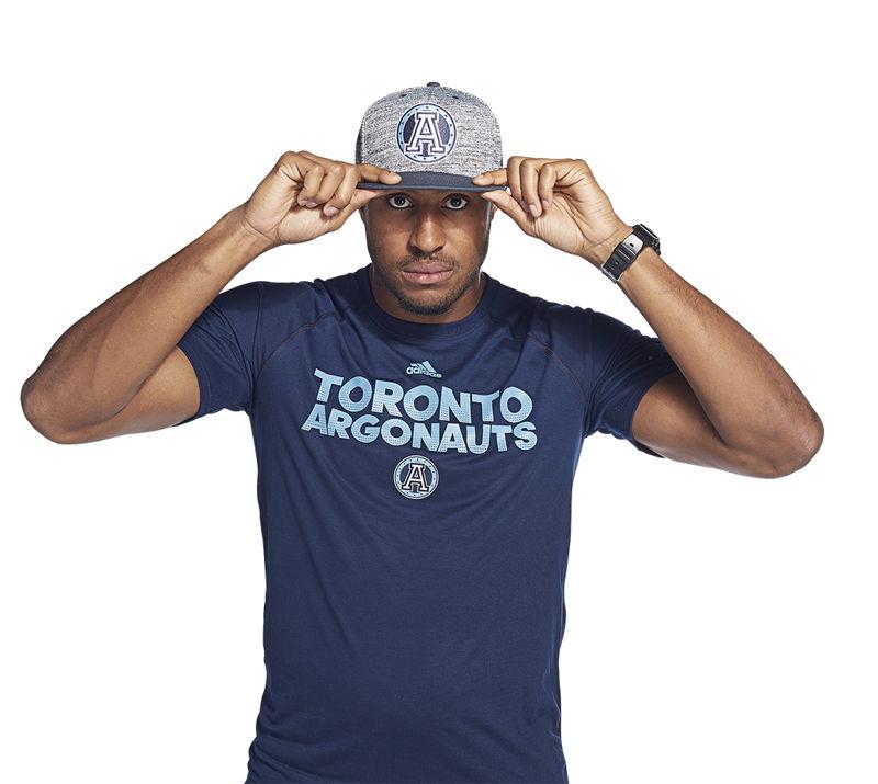 Toronto Argonauts adidas team collection (Tori Gurley).