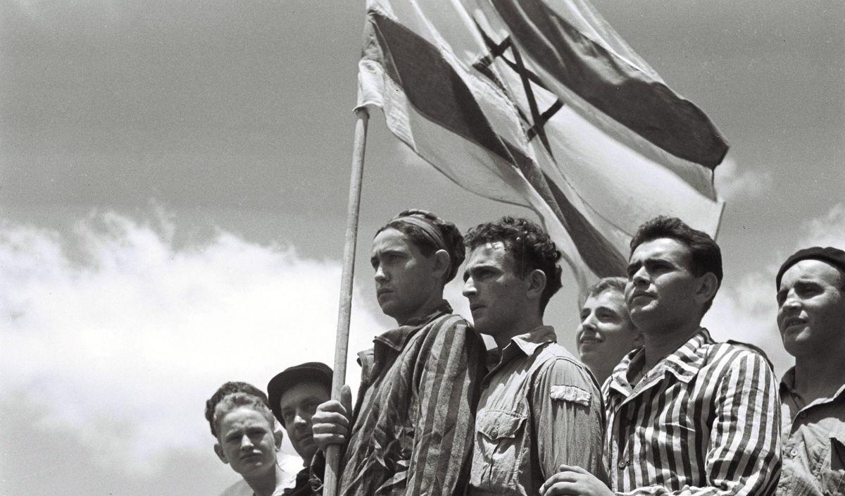 Overlevenden van Buchenwald op weg naar Palestina © Getty Images