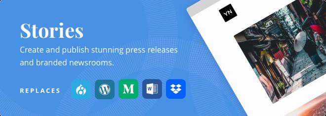 Replaces: Wordpress, Droopal, Medium, Word, Dropbox