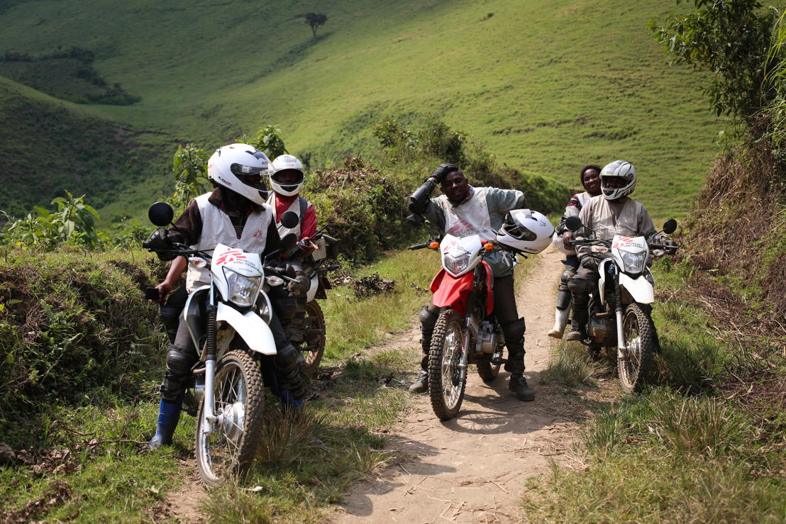 Roads are so bad that MSF carries out mobile clinics by motorbikes. Photographer: Sara Creta