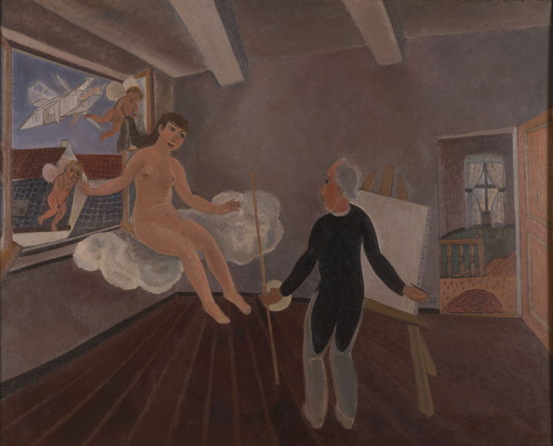 Edgard Tytgat, Inspiratie, 1926  ©Antwerpen, The Phoebus Foundation<br/>(c) SABAM Belgium 2017