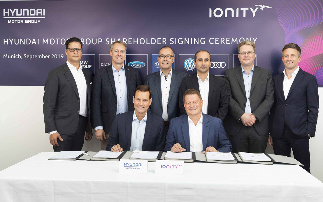 Hyundai investe in IONITY per espandere le stazioni di ricarica veloce