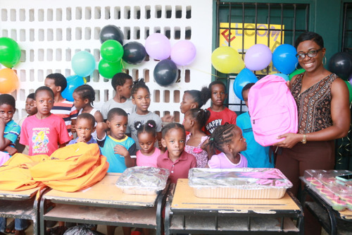 OECS Commission donates school supplies to Des Barras Combined School