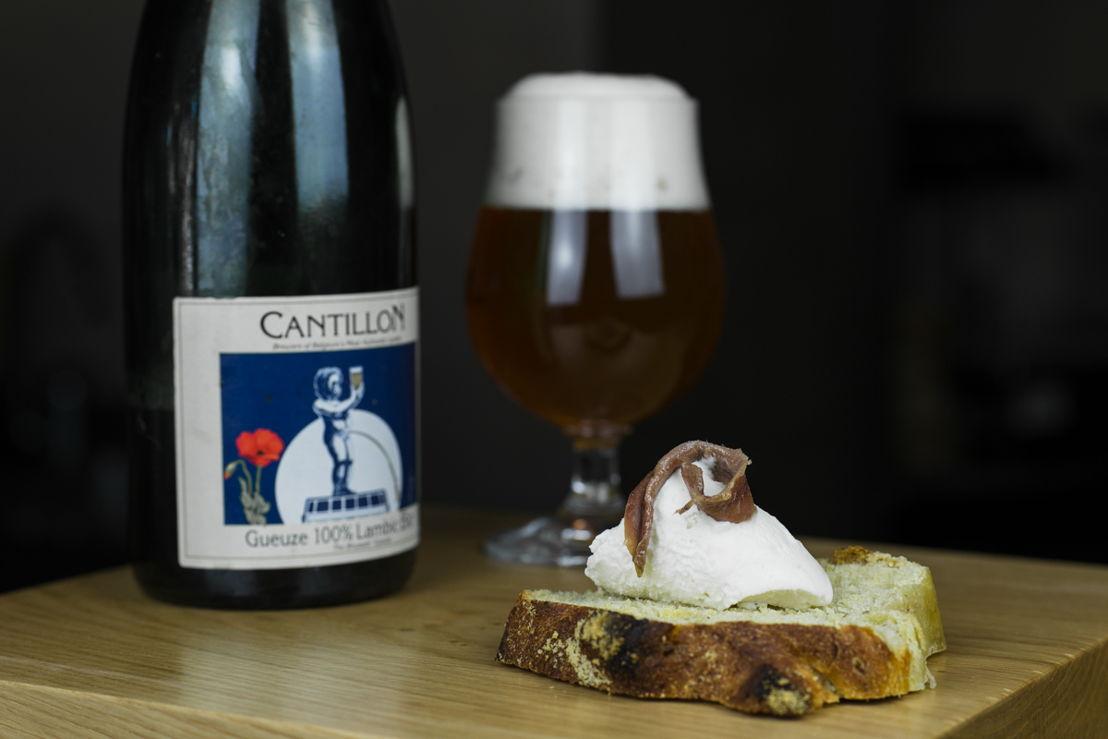 Cremeria Capolinea, Gelato al burro e alici con birra Gueuze Lambic di Cantillon