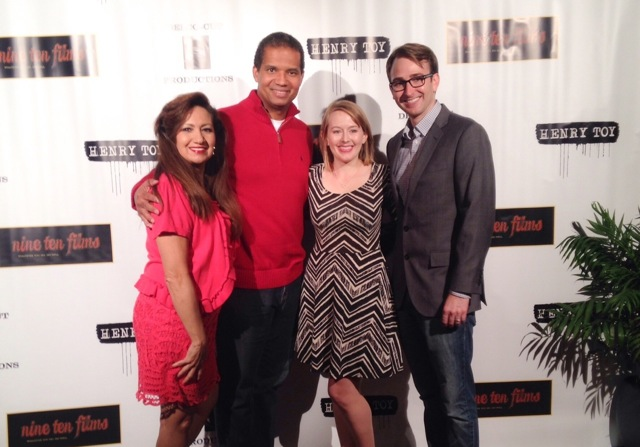 Dianna Perales Harris, Earnest Harris, client Amy Schloerb and Michael May at premiere screening.