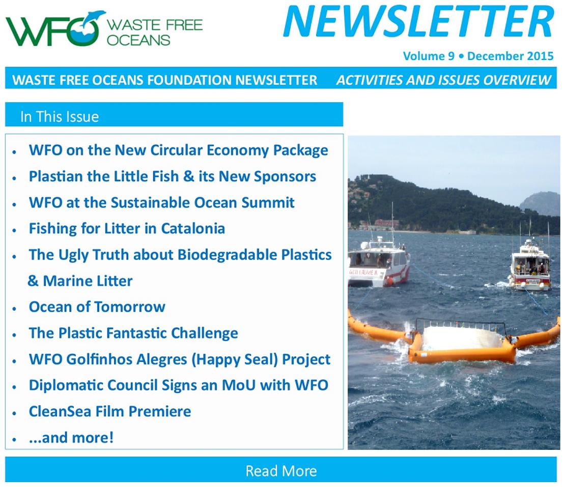 Waste Free Oceans Newsletter Volume 9