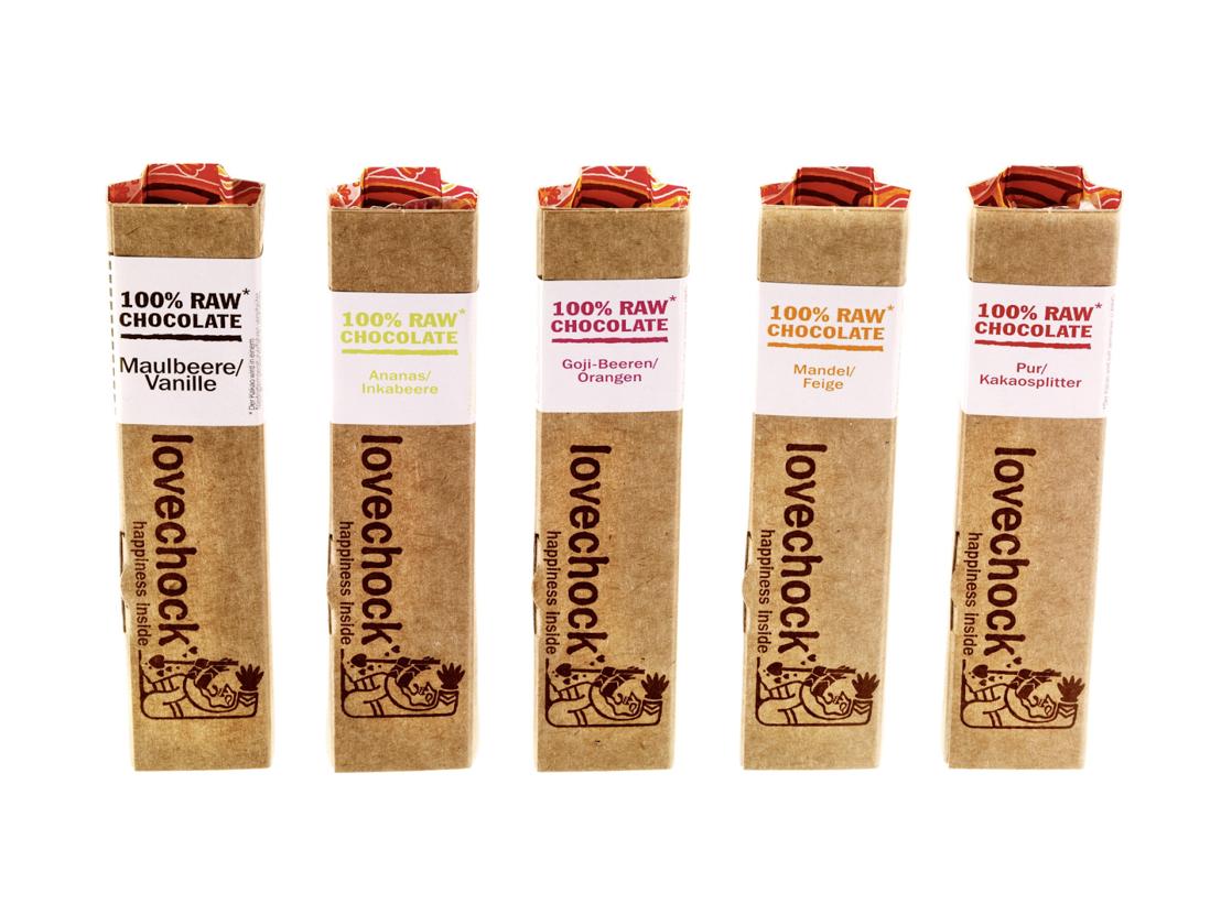 Lactosevrije chocolade Lovechock bars