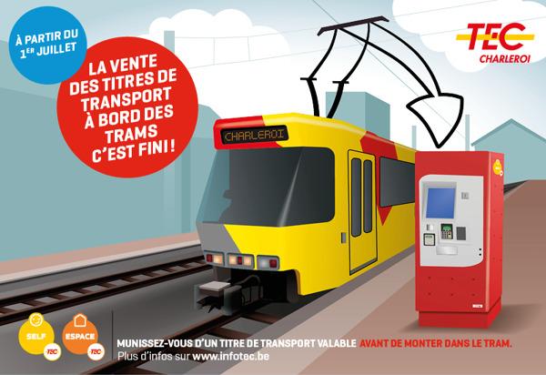 Preview: La vente des titres de transport à bord des trams, c'est fini !