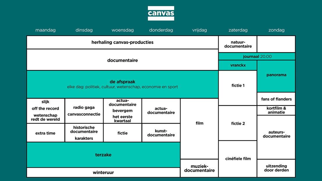 Programmaschema Canvas Najaar 2015 - Vanaf maandag 24 augustus