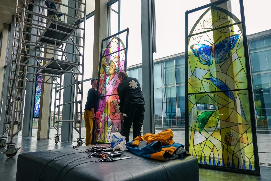 Rondreizende expo glasramen promoot ontwikkeling van Zoniënwoud