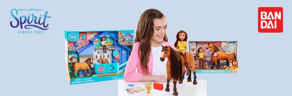 """Bandai trae en exclusiva, los juguetes de """"DreamWorks Spirit Cabalgando Libre"""" la nueva serie de Netflix"""