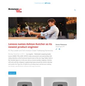 Lenovo names Ashton Kutcher as its newest product engineer