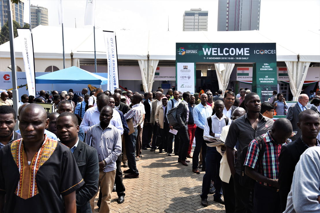 Crowds at The Big 5 Construct East Africa 2018