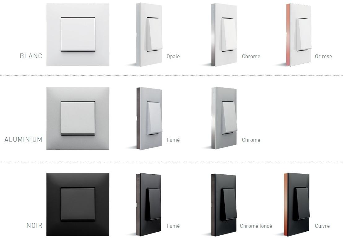 Des interrupteurs design grâce à la série VALENA Next de Legrand disponible chez Brainbox.