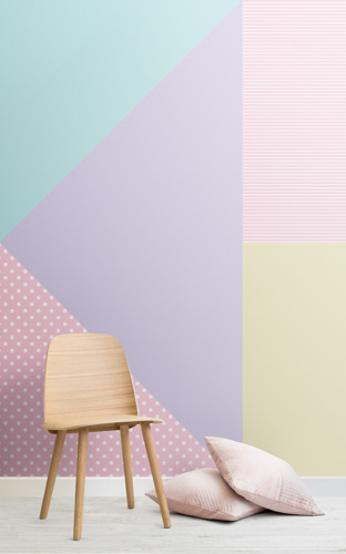 Gelato Geometrics: the wallpaper mural collection inspired by SS18's prominent pastel palette