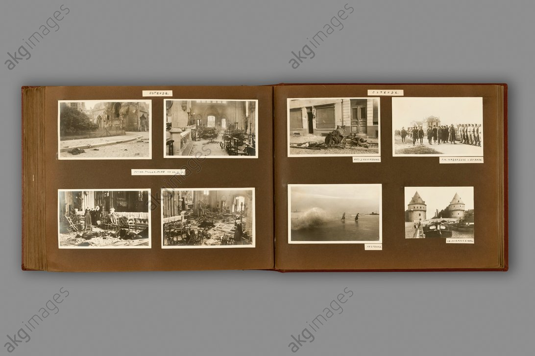 Photo postcards, 1917. From the photoalbum (1914–18) of Dr. Hanns Krach, Mainz