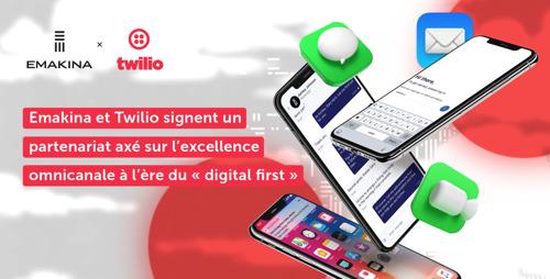 Emakina et Twilio signent un partenariat axé sur l'excellence omnicanale à l'ère du « digital first »