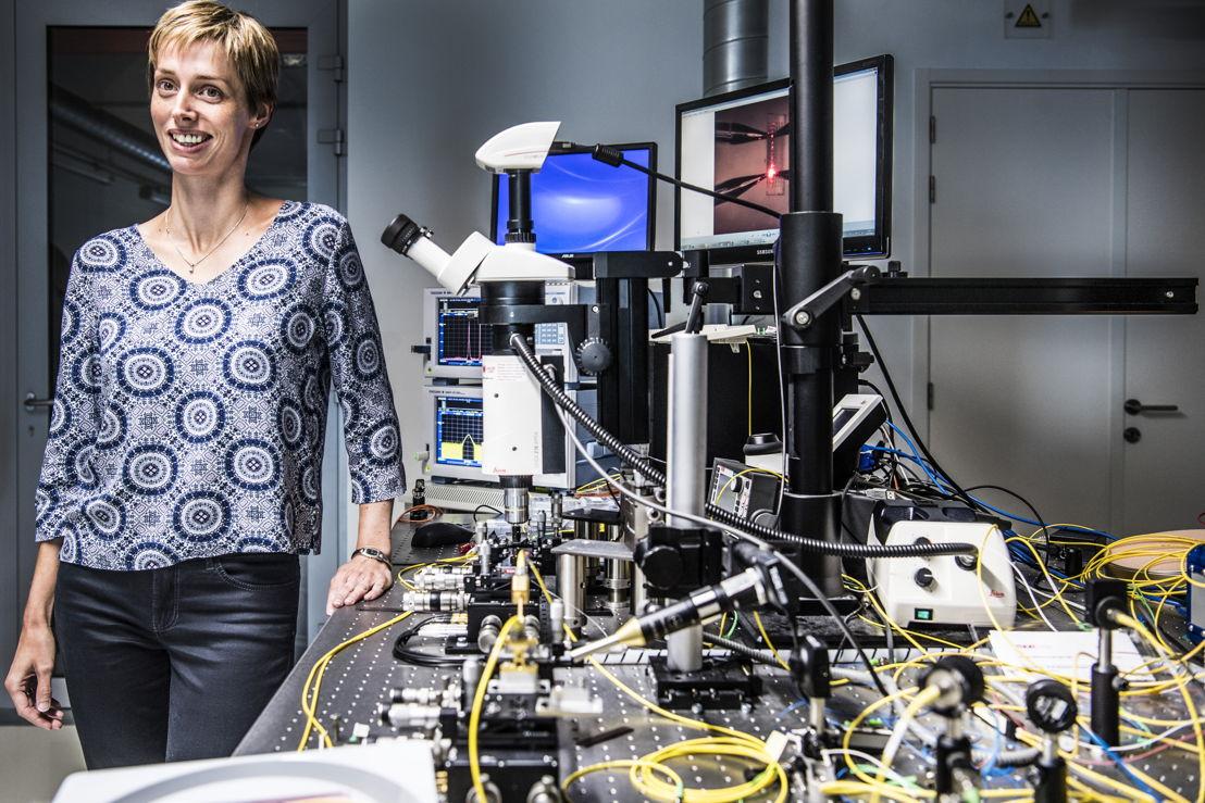Nathalie Vermeulen in het laboratorium