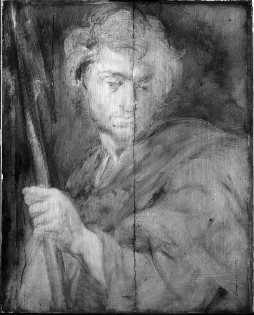 Image name: 21_Anthony van Dyck, Saint Matthew, technical research, Rubens House, permanent loan by the King Baudouin Foundation, photo KIK IRPA Brussels.jpg