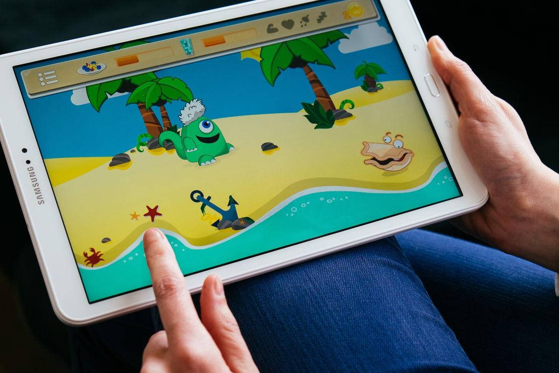 De app bevat een educatief spel over voeding © UZ Leuven