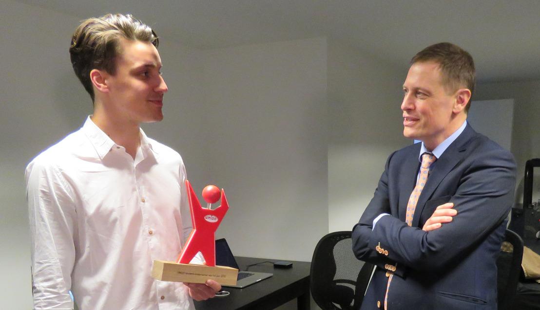 Lothar De Keyne is student-ondernemer van het Jaar!