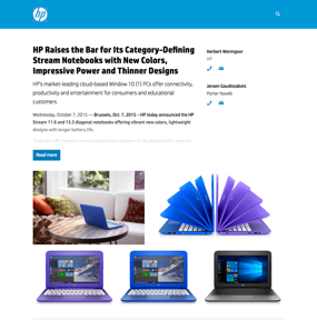 HP Raises the Bar for Its Category-Defining Stream Notebooks with New Colors, Impressive Power and Thinner Designs