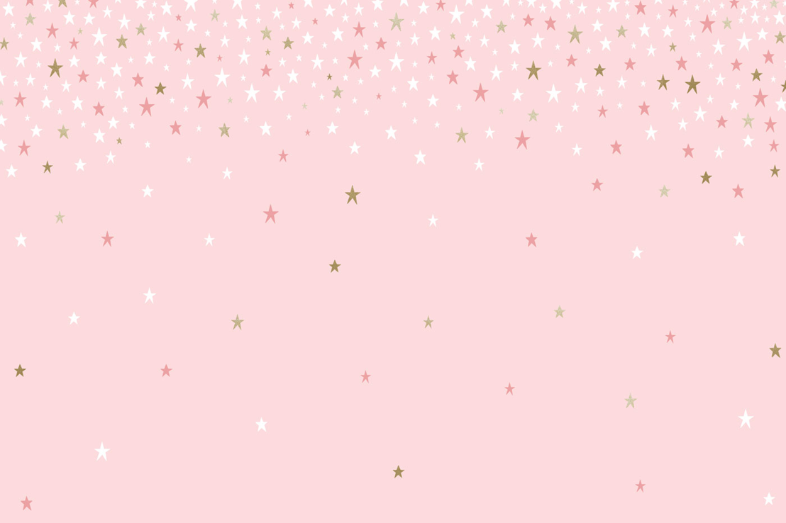 Falling Star Pink Wallpaper Mural
