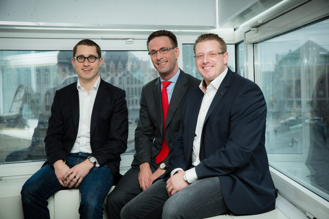 De gauche à droite: Yves Warnant - Dauvister, Grégoire Dallemagne - CEO EDF Luminus et Stéphane Dauvister - Dauvister.