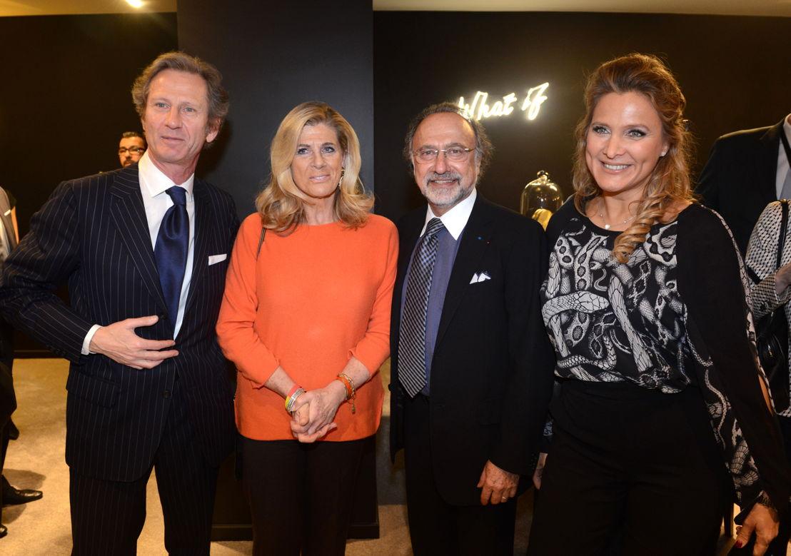 Le comte François Didisheim, La Princesse Alexandre de Belgique et M. et Mme Olivier Dassault