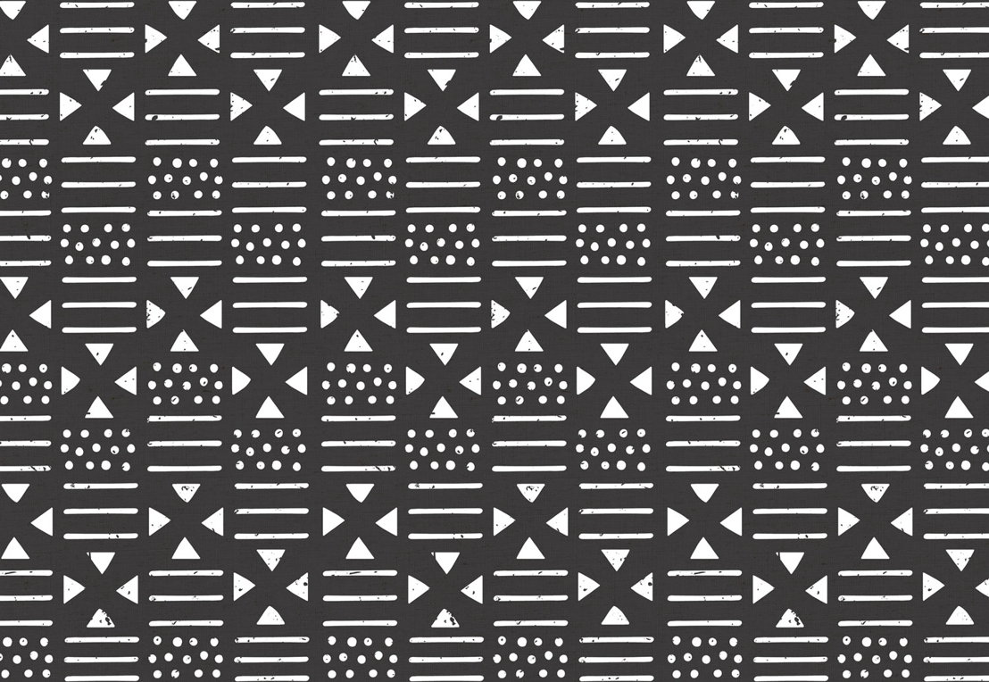 Black and White Tribal Pattern Wallpaper