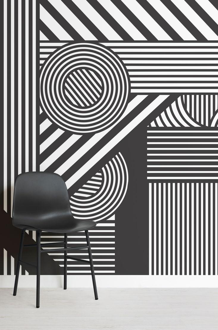 Oriz Geometric Mural - Lifestyle