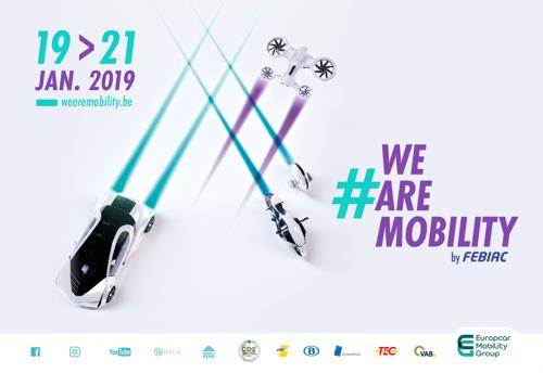 La SNCB, le TEC, la STIB et De Lijn présents ensemble au Salon #WeAreMobility, en marge du Salon de l'Auto, pour promouvoir l'intermodalité