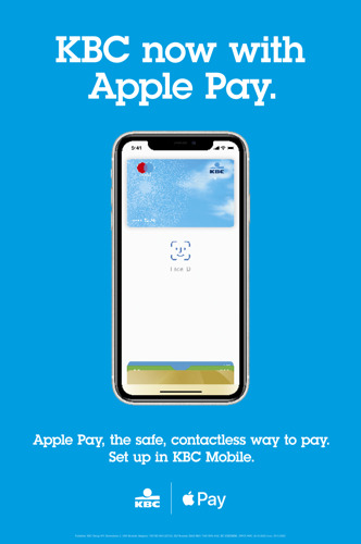 KBC, KBC Brussels and CBC bring Apple Pay to Customers.